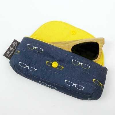 Funda de gafas amarilla de Jan et Jul