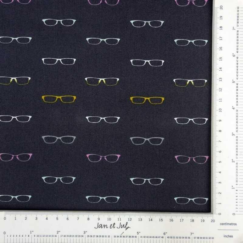 Tela americana con dibujos de gafas