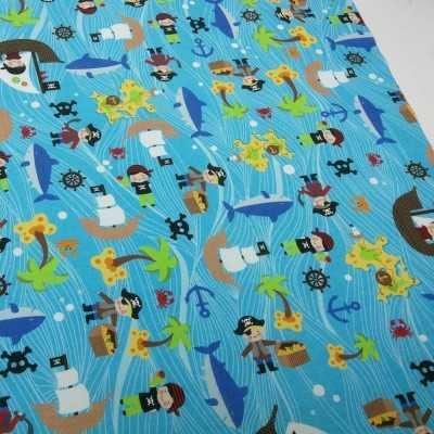 Tela de algodón de piratas diseñada por Jan et Jul