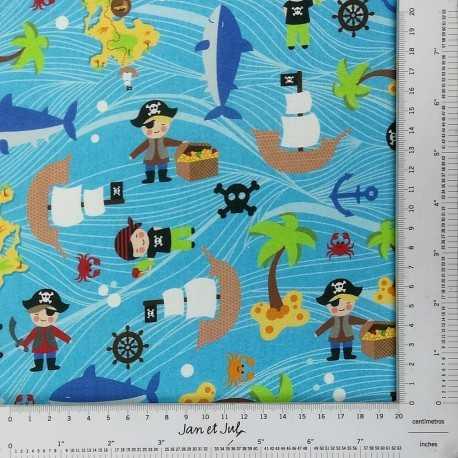 Tela de piratas diseñada por Jan et Jul