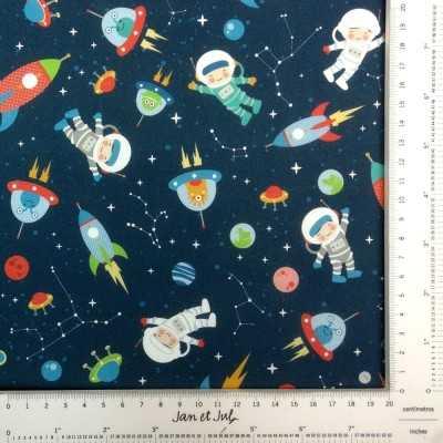 Tela de astronautas diseñada por Jan et Jul