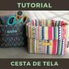 tutorial para aprender a coser cestas de telas DIY
