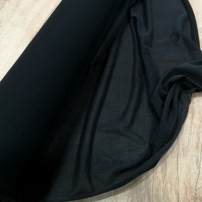 Fliselina adhesiva negra para tejido de punto elástico