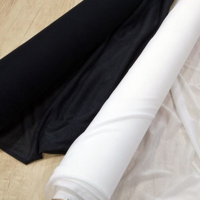 Fliselina adhesiva blanca o negra para tejido de punto