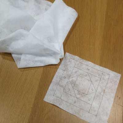 Fliselina para calcar y realizar técnicas de patchwork