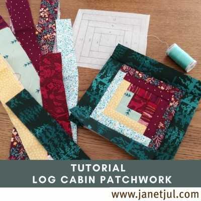 Aprende la técnica del log cabin con este tutorial con plantilla gratis