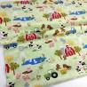 Tela de algodón con dibujos de animales de granja