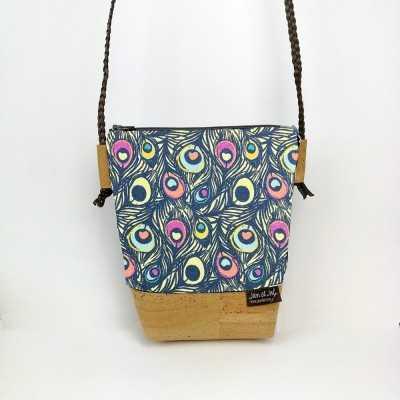 Bolso pequeño de corcho con cremallera diseñado por Jan et Jul