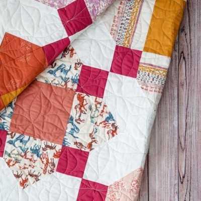 Quilt de patchwork de AGF con tela de caballos