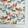 Tela de algodón con caballos