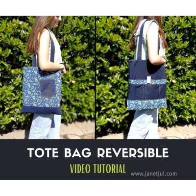 Tutorial gratis para coser un bolso reversible, Jan et Jul