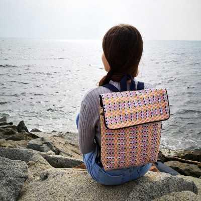 Patrón para realizar mochila de tela grande (A4)