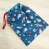Bolsa de merienda o bolsa para ropa de recambio infantil con tela de astronautas