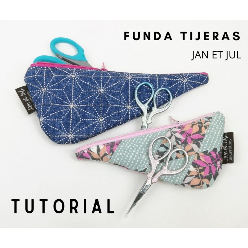 tutorial para aprender a hacer una funda - estuche para las tijeras