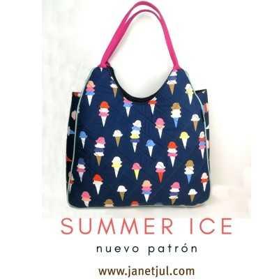 patrón para coser un bolso con asa de verano descargable online