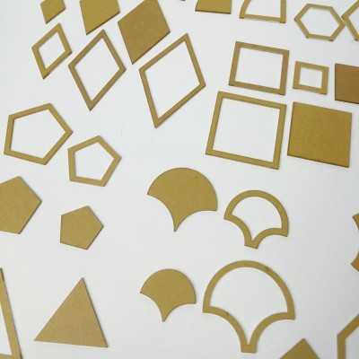 54 plantillas de metacrilato para patchwork