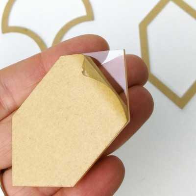 54 plantillas de metacrilato para patchwork con papel protector