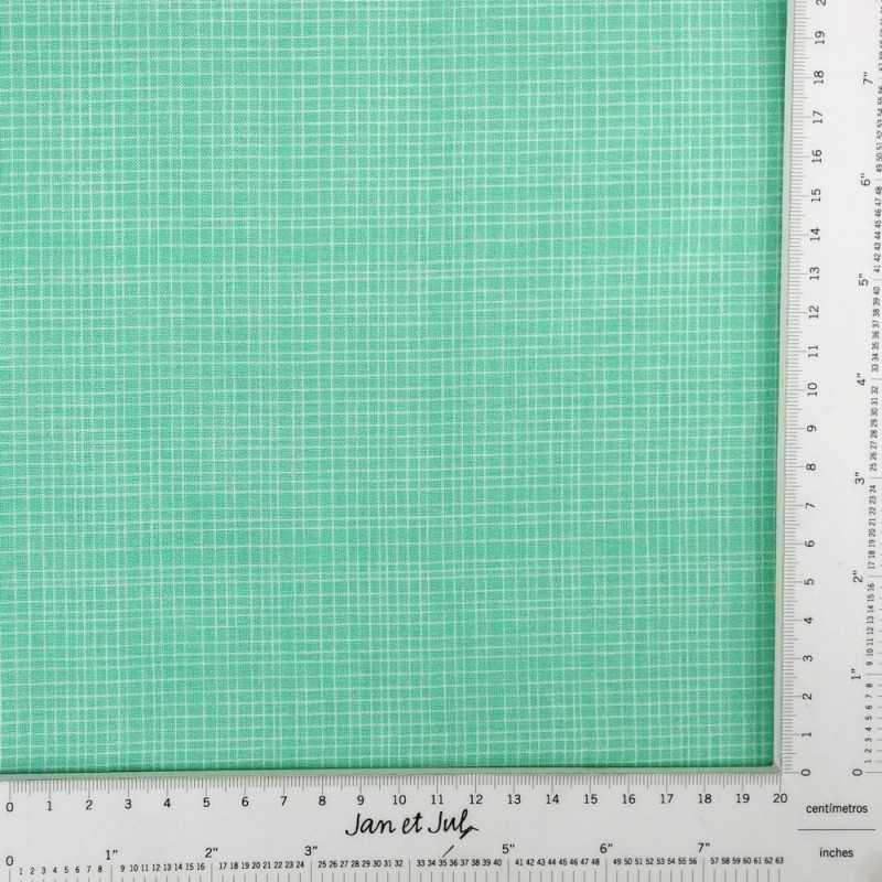 Tela de algodón americano de color verde turquesa