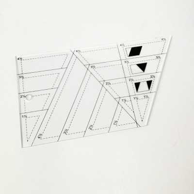 Regla acrílíca para realizar figuras de patchwork