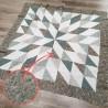 Quilt en colores verdes y marrones realizado por una clienta de Jan et Jul