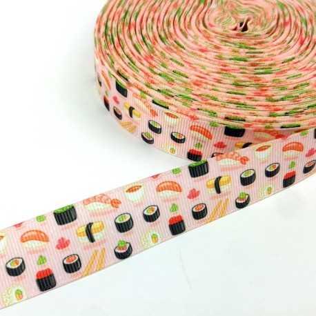 Cinta infantil con dibujos de sushi y comida japonesa