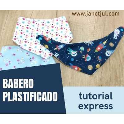 tutorial para hacer un babero bandana para bebés