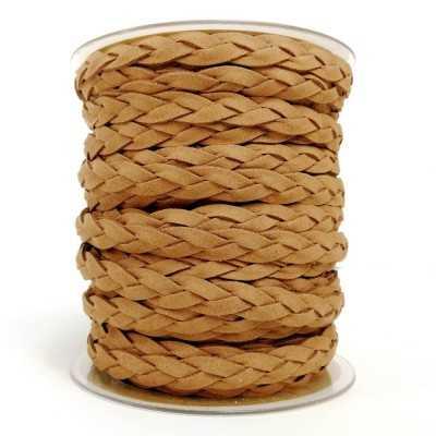 Asa trenzada de polyester (imitación ante) en camel