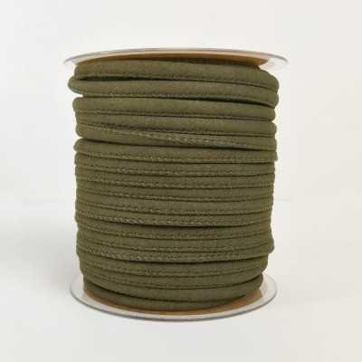 Cinta cordón para asa, imitación ante en colores. color verde militar