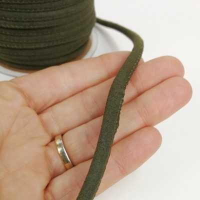 Cinta cordón para asa, imitación ante en colores. color verde