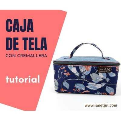 tutorial cómo hacer una caja, cajita, cofre o maletín de tela