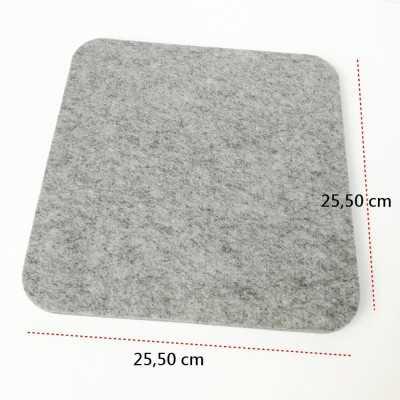 Base de lana de calidad para planchar de 25 x 25 cm