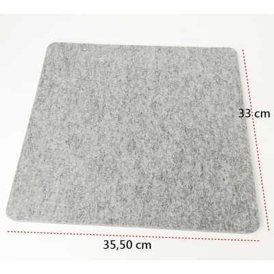 Base de lana de calidad para planchar de 35,50 x 33 cm