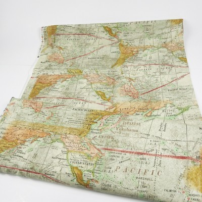 tela mapa mundi vintage