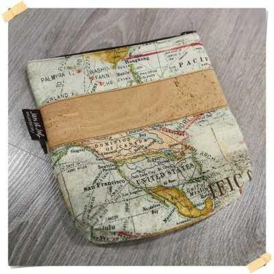 Bolso DIY con tela de mapa