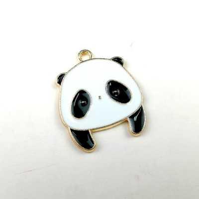 Colgante esmalte con forma de panda