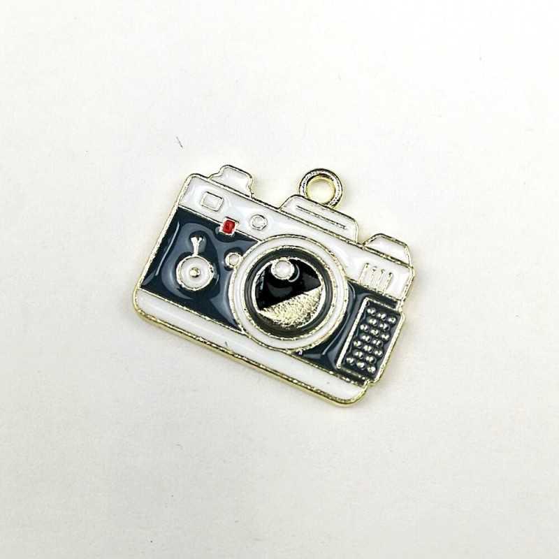 Colgante o tirador de cremallera con forma de cámara de fotos