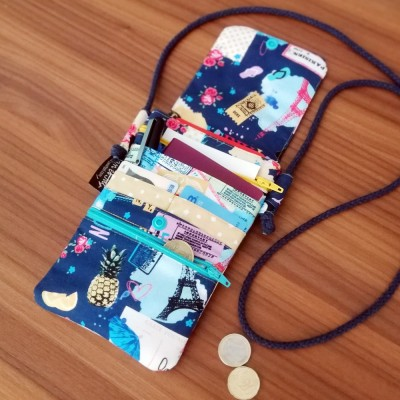 Bolso porta documentos de viaje