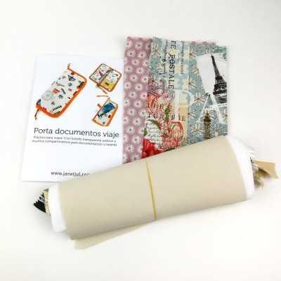 Kit portadocumentos con tela de Paris